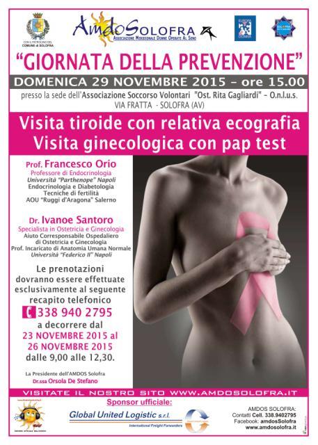 Giornata della prevenzione 29 novembre 2015